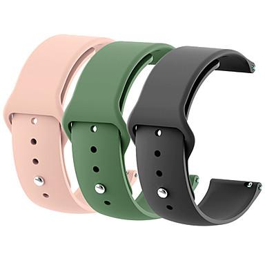 voordelige Horlogebandjes voor Samsung-18mm 20mm 22mm 3 stks siliconen horloge band gear s2 strap voor samsung gear s3 klassieke frontier galaxy horloge correa amazfit bip armband
