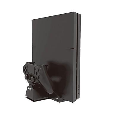 olcso Videojáték tartozékok-ps4 fogantyú kettős töltésű gazdagép hűtőbázis tartó PS4 fogantyúval töltő ventilátor konzol