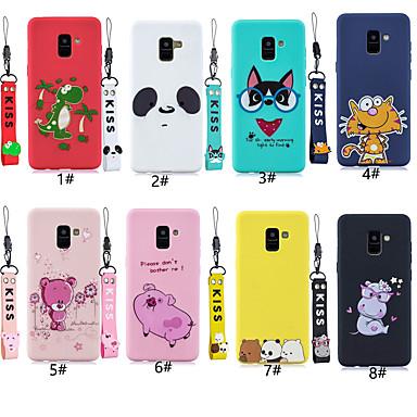 voordelige Galaxy Note-serie hoesjes / covers-hoesje Voor Samsung Galaxy Note 9 / Note 8 Patroon Achterkant dier / Cartoon Zacht TPU