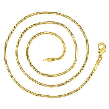 Bărbați Lănțișoare Clasic Ieftin Clasic De Bază Modă Alamă Placat Auriu Auriu 46,56,61,66 cm Coliere Bijuterii 1 buc Pentru Zilnic Muncă