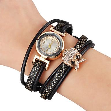voordelige Heren Armband-Heren Vintage Armbanden Lederen armbanden Klassiek Uil Klassiek Vintage Europees Leder Armband sieraden Zwart Voor Feest Dagelijks Straat Werk / Strass