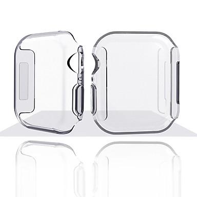 Недорогие Кейсы для Apple Watch-Для Apple Watch серии 4 ТПУ тонкий прозрачный чехол протектор экрана полная крышка