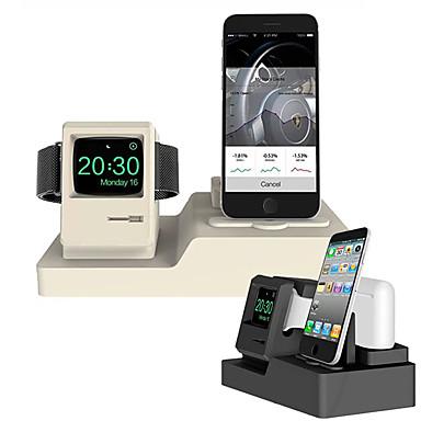 voordelige Apple Watch-bevestigingen & -houders-staan mobiele telefoon kijken headset opladen beugel zonder lijn apple silicagel bureau / bed pure plaatsing beugel