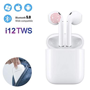 Недорогие Наушники и гарнитуры-i12 tws правда беспроводная связь Bluetooth 5.0 наушники с сенсорным управлением наушники 3d объемный звук