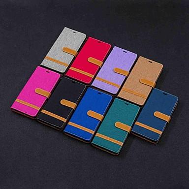 voordelige Galaxy Note-serie hoesjes / covers-hoesje Voor Samsung Galaxy Note 9 / Note 8 Portemonnee / Kaarthouder / met standaard Volledig hoesje Tegel Hard tekstiili