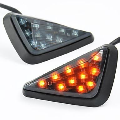 Недорогие Фары для мотоциклов-Дымовой треугольник скрытого монтажа светодиодные указатели поворота поворотник
