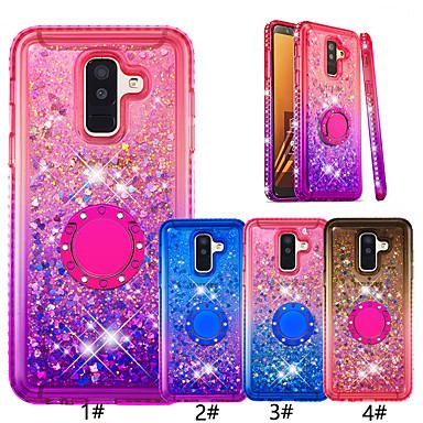 voordelige Galaxy A-serie hoesjes / covers-case voor Samsung Galaxy Melkweg a9 (2018) / a7 (2018) glitter shine / ringhouder achterkant kleurverloop zachte tpu voor Galaxy a6 (2018) / a5 (2017) / Galaxy a6 plus (2018)