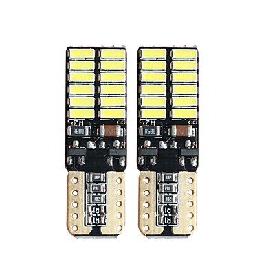 voordelige Autobinnenverlichting-10 stks geen fout led t10 w5w 4014 24smd t10 led voor parkeerverlichting klaring bollen interieur lichtkoepels 12 v witte canbus
