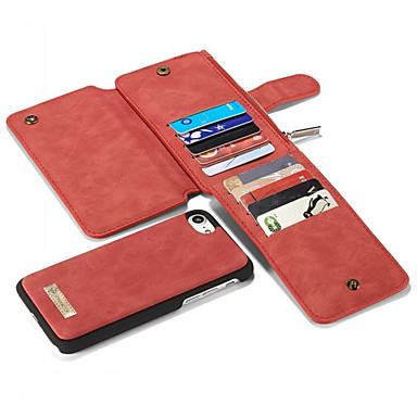 Недорогие Кейсы для iPhone-Кейс для Назначение Apple iPhone XS / iPhone XR / iPhone XS Max Бумажник для карт / Защита от удара / Движущаяся жидкость Кейс на заднюю панель Однотонный Мягкий Настоящая кожа
