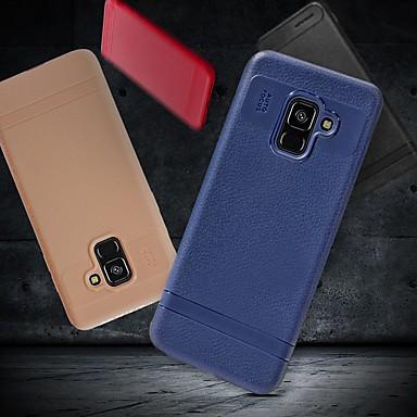 olcso Samsung tartozékok-Case Kompatibilitás Samsung Galaxy A5(2018) / A6 (2018) / A6+ (2018) Ütésálló / Ultra-vékeny / Jeges Fekete tok Egyszínű Puha TPU
