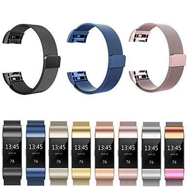 voordelige Smartwatch-accessoires-Horlogeband voor Fitbit Charge 3 Fitbit Sportband / Milanese lus Roestvrij staal Polsband