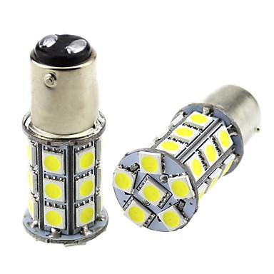 voordelige Automistlampen-2 stks 1157 bay15d led auto gloeilampen 3 w 24 v smd 5050 27 led lamp voor richtingaanwijzer mistlamp achterlicht mistlicht