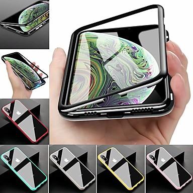 voordelige iPhone-hoesjes-hoesje voor apple iphone xr iphone xs max plating full body koffers solide gekleurd hard gehard glas metaal voor 8 plus 8 7 plus 7 xs