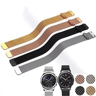 voordelige Horlogebandjes voor Samsung-20mm 22mm band voor samsung galaxy horloge actieve 42mm 46mm gear sport s2 s3 milanese loop voor amazfit bip 18mm huawei watch1 riem