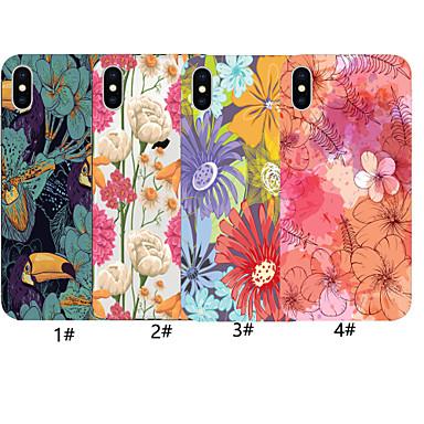 voordelige iPhone-hoesjes-case voor apple iphone xr / iphone xs max bloem patroon achterkant kleurverloop zachte tpu voor iphone x xs 8 8 plus 7 7 plus 6 6 plus 6 s 6 s plus