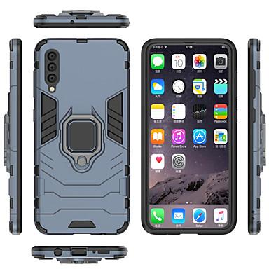 voordelige Galaxy A-serie hoesjes / covers-hoesje Voor Samsung Galaxy Galaxy A7(2018) / A8 2018 / A8+ 2018 Ringhouder Volledig hoesje Effen / Schild Hard PC