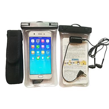 voordelige Universele hoesjes & tasjes-hoesje Voor Apple Universeel Waterbestendig / SportArmband / Armband Waterdicht etui Transparant Zacht TPU
