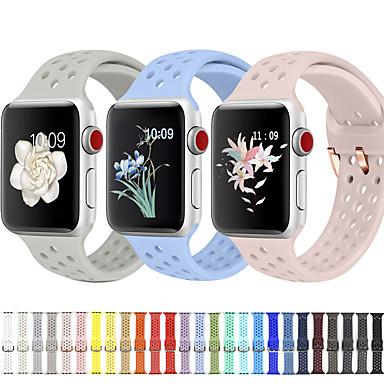 Недорогие Ремешки для Apple Watch-Ремешок для часов для Apple Watch Series 4/3/2/1 Apple Спортивный ремешок / Классическая застежка силиконовый Повязка на запястье