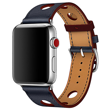 Недорогие Ремешки для Apple Watch-петля из натуральной кожи для яблочного ремешка для часов 40мм / 44мм / 38мм / 42мм одинарный тур с тремя отверстиями для iwatch серии 4 3 2 1