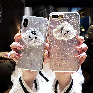 voordelige iPhone 7 hoesjes-case voor apple iphone xs max / iphone 8 plus vloeiende vloeistof / schokbestendig / stofdicht achterkant 3d cartoon / glitter shine / hart zachte tpu voor iphone 7/7 plus / 8/6/6 plus / xr / x / xs