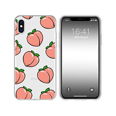 voordelige iPhone 5 hoesjes-hoesje voor iphone xs max x xr 8 plus achterkant van de behuizing zacht creatief patroon perzik transparant gsm-hoesje waterdicht splintervrij anti-kras zacht tm voor de iPhone 7 plus 7 6 plus 6 5 se