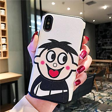 voordelige iPhone 7 hoesjes-hoesje Voor Apple iPhone XS / iPhone XR / iPhone XS Max Schokbestendig / Stofbestendig / Patroon Achterkant Cartoon silica Gel