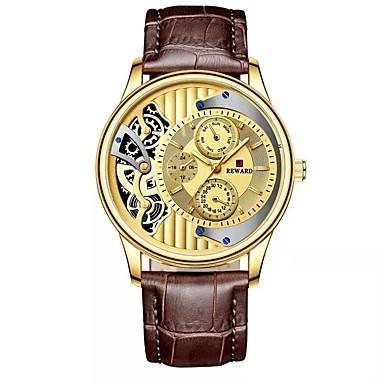 Недорогие Часы на кожаном ремешке-Муж. Спортивные часы Японский Японский кварц Стильные Натуральная кожа Черный / Синий / Коричневый 30 m Защита от влаги Повседневные часы Аналоговый Мода -  / Два года