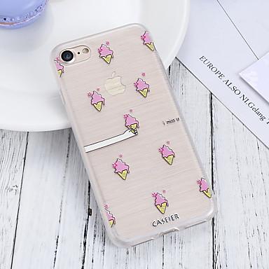 voordelige iPhone 5 hoesjes-hoesje voor Apple iPhone XR / iPhone 7 plus waterdicht / stofdicht / doorschijnende achterkant voedsel zachte TPU / mode shell telefoon hoesje voor iPhone 5 / 5s / 6 / 6s / iPhone 6 / 6s plus / iPhone