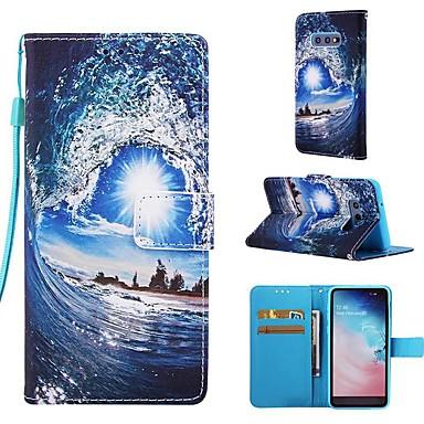 voordelige Galaxy S-serie hoesjes / covers-hoesje Voor Samsung Galaxy S9 / S9 Plus / S8 Plus Portemonnee / Kaarthouder / met standaard Volledig hoesje Landschap Hard PU-nahka