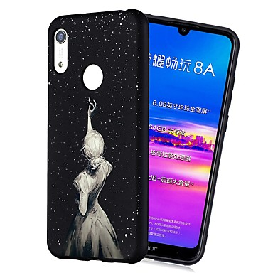 voordelige Huawei Y-serie hoesjes / covers-hoesje Voor Huawei Huawei Nova 3i / Y7 Prime (2018) / Huawei Y7 2019 Schokbestendig / Mat / Patroon Achterkant Sexy dame Zacht TPU