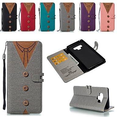 voordelige Galaxy Note-serie hoesjes / covers-hoesje Voor Samsung Galaxy Note 9 / Note 8 Kaarthouder / Schokbestendig / met standaard Volledig hoesje Geometrisch patroon Hard Kangas