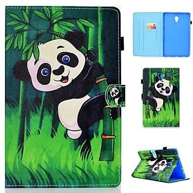 voordelige Samsung Tab-serie hoesjes / covers-hoesje Voor Samsung Galaxy Tab 4 10.1 / Tab S4 10.5 (2018) / Tab A2 10.5(2018) T595 T590 Kaarthouder / Schokbestendig / met standaard Volledig hoesje Panda Hard PU-nahka