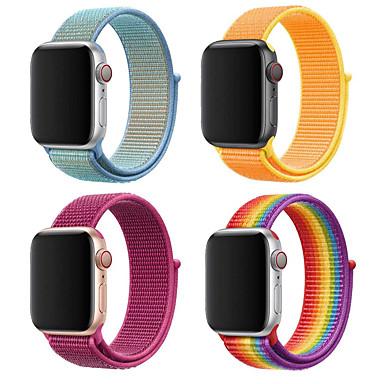 Недорогие Ремешки для Apple Watch-Ремешок для часов для Apple Watch Series 4/3/2/1 Apple Миланский ремешок Нейлон Повязка на запястье