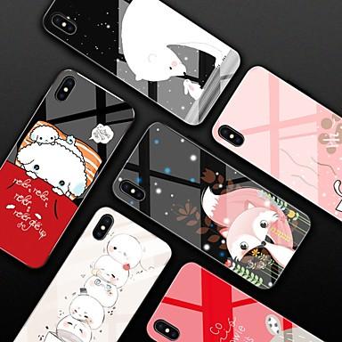 voordelige iPhone 5 hoesjes-hoesje Voor Apple iPhone XS / iPhone XR / iPhone XS Max Spiegel / Patroon Achterkant Cartoon Hard Gehard glas