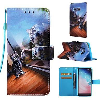 voordelige Galaxy S-serie hoesjes / covers-hoesje Voor Samsung Galaxy S9 / S9 Plus / S8 Plus Portemonnee / Kaarthouder / met standaard Volledig hoesje Kat Hard PU-nahka