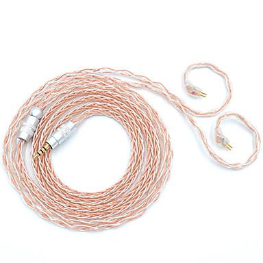 billige Kabler og adaptere-bqeyz 8 kerne guld sølv blandet farve opgradering øretelefon kabel 0.78mm stik 2.5mm afbalanceret stik til tfz kz trn bgvp