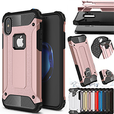 voordelige iPhone 6 Plus hoesjes-shockproof cover telefoon geval voor apple iphone xs max xr iphone xs iphone x rubber armor hybride pc hard cover voor iphone 8 plus iphone 8 iphone 7 plus iphone 7 iphone 6 plus iphone 6 siliconen