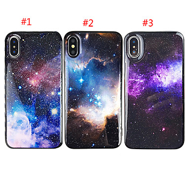 voordelige iPhone X hoesjes-hoesje voor apple iphone xs max / iphone 8 plus glitter shine / schokbestendig cover sky soft tpu voor iphone 7/7 plus / 8/6/6 plus / xr / x / xs