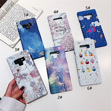voordelige Galaxy Note-serie hoesjes / covers-hoesje Voor Samsung Galaxy Note 9 / Note 8 Glow in the dark / Patroon Achterkant Cartoon / Bloem Hard PC