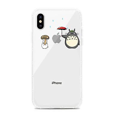 voordelige iPhone 7 hoesjes-hoesje Voor Apple iPhone XS / iPhone XR / iPhone XS Max Schokbestendig / Stofbestendig / Transparant Achterkant Transparant / Cartoon TPU
