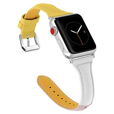 Недорогие Ремешки для Apple Watch-кожаный ремешок для яблока ремешок для часов 38 мм 42 мм замена браслет браслет для iwatch серии 4 3 2 144 мм / 40 мм смарт-аксессуары