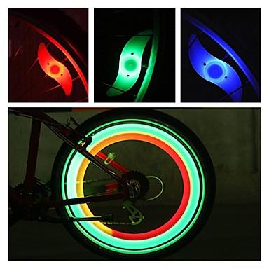 voordelige Fietsverlichting-LED Fietsverlichting veiligheidslichten wiel lichten Bike Spoke Light Bergracen Wielrennen Waterbestendig Meerdere modi Alarm CR2032 batterij Fietsen motocycle / IPX-4