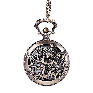 저렴한 남성용 시계-남성용 회중 시계 석영 블랙 중공 판화 창조적 캐쥬얼 시계 아날로그 캐쥬얼 해골 - 브라운