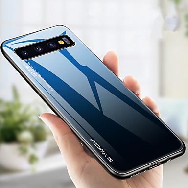 Case Kompatibilitás Samsung Galaxy S9 / S9 Plus / S8 Plus Ütésálló Fekete tok Színátmenet Kemény TPU / Hőkezelt üveg