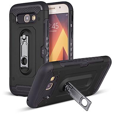 Недорогие Чехлы и кейсы для Galaxy A5-Кейс для Назначение SSamsung Galaxy A5 Защита от удара / Защита от пыли / со стендом Кейс на заднюю панель Однотонный Твердый ПК