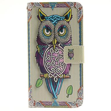 Недорогие Чехлы и кейсы для Galaxy A5-Кейс для Назначение SSamsung Galaxy A5 Бумажник для карт / со стендом / С узором Чехол Животное Твердый Кожа PU