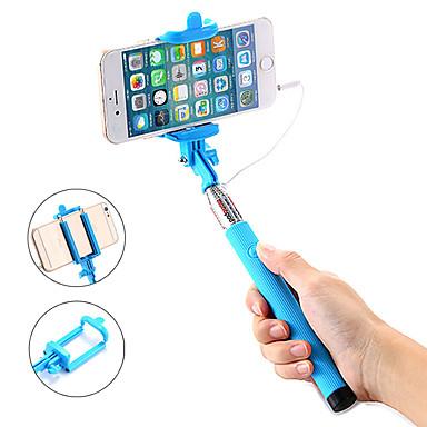 voordelige Bluetooth selfiestick-Selfiestick Bedraad Verlengbaar Maximale lengte 100 cm Voor Android / Universeel / iOS Android / iOS Universeel
