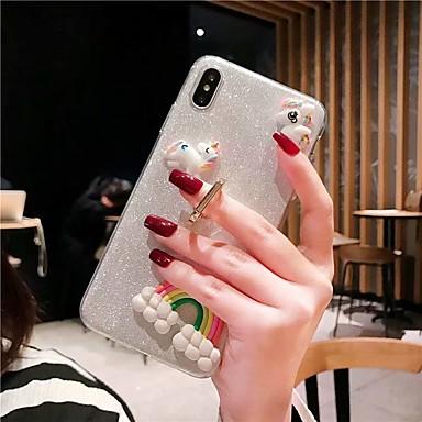 voordelige Galaxy Note 5 Hoesjes / covers-hoesje Voor Samsung Galaxy S9 / S9 Plus / S8 Plus Schokbestendig / Ringhouder / Glitterglans Achterkant Transparant / Glitterglans TPU