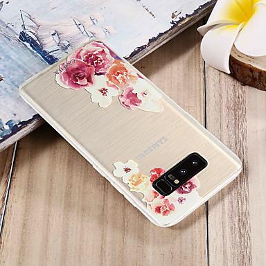 Недорогие Чехлы и кейсы для Galaxy S6 Edge-Кейс для Назначение SSamsung Galaxy S8 Plus / S8 / S7 edge Защита от пыли / Полупрозрачный / С узором Кейс на заднюю панель Цветы ТПУ