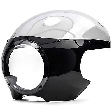 voordelige Motorverlichting-voor harley sportster 883 1200 dyna zwart 5 3/4 ronde racer koplamp kuip